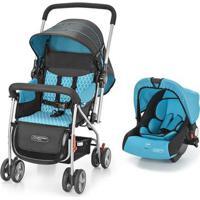 Carrinho + Bebê Conforto Flip Travel System Azul – Bb619 Bb619