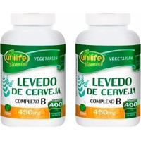 Levedo De Cerveja - 2X 400 Comprimidos - Unilife - Unissex