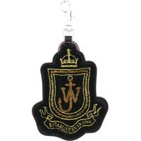 Jw Anderson Chaveiro 'Shield' De Couro - Preto