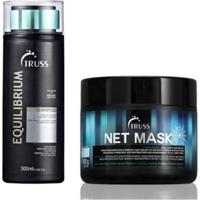 Kit Truss Shampoo Equilibrio 300Mlo E Net Mask550Ml - Unissex-Incolor