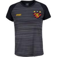 Camiseta Do Sport Recife 19 - Feminina - Cinza Esc Mescla