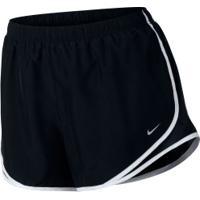 Shorts Nike Tempo Plus - Feminino - Preto/Branco