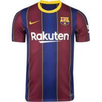 Camisa Barcelona I 20/21 Nike - Masculina - Azul Esc/Vermelho