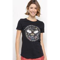Camiseta Hapuna Baby Look Fell From Eternity Feminina - Feminino-Preto