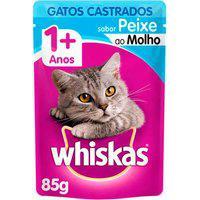 Ração Para Gatos Whiskas Para Gatos Castrados Sabor Peixe 85G