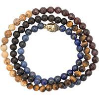Nialaya Jewelry Pulseira Buddha Com Pedraria - Estampado