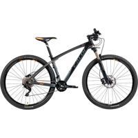 Bicicleta Mtb Caloi Carbon Ibex Aro 29 Preto