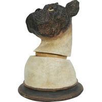 Pote Decorativo Cachorro- Bege Claro & Marrom Escurobtc Decor