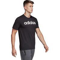 Camiseta Adidas Lin Masculina - Masculino-Preto+Branco