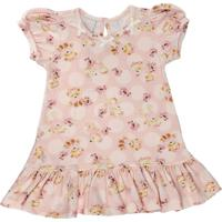 Vestido Para Bebê Manga Curta Cotton Ursinhas - Anjos Baby
