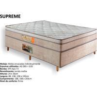 Colchão Queen Size Globalflex Supreme Com Mola Ensacada Pillow Top.