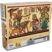 Quebra-Cabeça - 500 Peças - Arte Egípcia - Grow - Unissex-Incolor