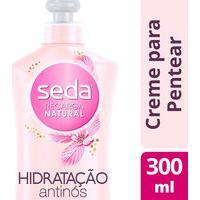 Creme De Pentear Seda Recarga Natural Hidratação Anti-Nós Com 300Ml