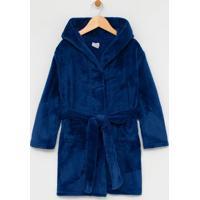 Roupão Infantil Com Capuz Em Fleece - Tam Pp Ao G
