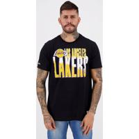 Camiseta Mitchell Ness Nba Los Angeles Lakers Nice Preta