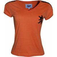 9cf9b29773b6e Netshoes  Camisa Liga Retrô Holanda 1974 - Feminino
