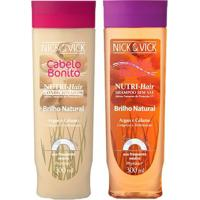 Kit Shampoo + Condicionador Nick & Vick Nutri-Hair Brilho Natural Kit - Unissex-Incolor