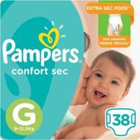 Fralda Pampers Confort Sec 38 Unidades - Unissex