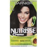 Tintura Garnier Nutrisse Kit Creme Cor 10 Ônix Preto