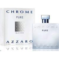 Azzaro Chrome Pure Perfume Masculino Eau De Toilette 100 Ml