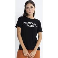 T-Shirt Champagne Mami Preto