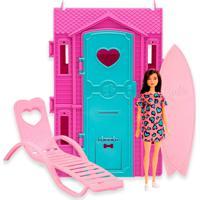 Barbie Studio De Surf Vestido Rosa E Azul - Fun Divirta-Se
