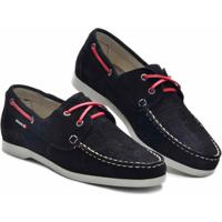 Sider D&R Shoes Em Couro Masculino - Masculino-Preto