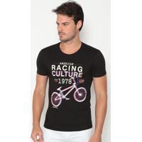 Camiseta Bicicleta - Preta & Off Whitecalvin Klein