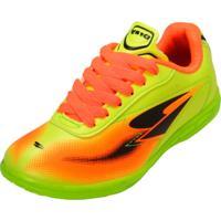 Chuteira Dray Futsal 305Co Verde/Preto