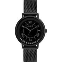 Relógio Euro Crystal Move Feminino - Feminino-Dourado