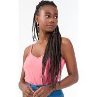 Blusa Feminina De Alça Básica Rosa