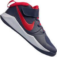 Tênis Nike Team Hustle D 9 Gs - Infantil - Azul Esc/Vermelho