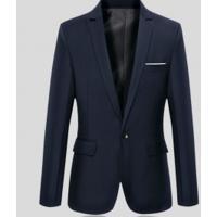 Blazer Masculino Sólido Elegante - Azul Escuro