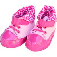 Tênis Cano Alto Oncinha Sapatinhos Baby Pink