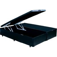Cama Box Bau King Size Com Pistão Hidráulico Preto 1,93 X 2,03