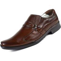 Sapato Ranster Confortável Palmilha Gel Couro Marrom