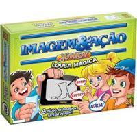 Jogo Imagem Ação Júnior Lousa Mágica Tabuleiro - Unissex-Verde