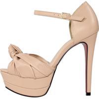 Sandália Salto Alto Week Shoes Meia Pata Nó New Pele Nude