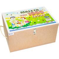 Maleta Com 1.000 Letras Carlu Brinquedos Colorido