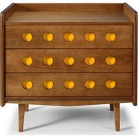 Comoda Vintage Cor Amendoa Com Amarelo - 15418 - Sun House