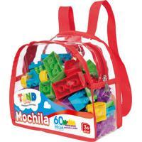 Blocos De Montar - Tand Kids - Mochila Com 60 Peças - Toyster
