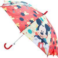Guarda Chuva Mickey®- Vermelho & Amarelo- 67,5Xø50Cmetilux