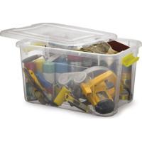 Caixa Organizadora Plástico Com Trava Minibox Capacidade 50L