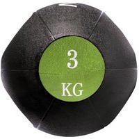 Bola Medicine Ball Com Pegada 3 Kg Em Borracha T108 Acte