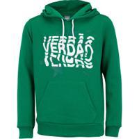 Camiseta Puma Sep Verdao Hoody Jr - Verde/Branco