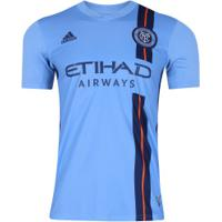 Camisa New York City I 18/19 Adidas - Masculina - Azul Cla/Azul Esc
