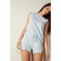 Shorts Em Algodão Supima® Ultrafresh Sporty Cotton - Azul M Intimissimi