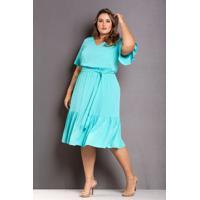 Vestido Babado Tiffany Plus Size