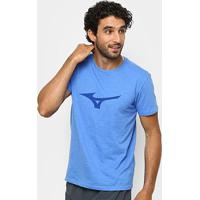 Camiseta Mizuno Soft Run Bird Masculina - Masculino-Azul