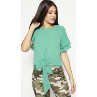 Blusa Texturizada Com Amarração - Verdemoiselle